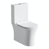 Mode Hardy rimless close coupled toilet with slimline soft close seat