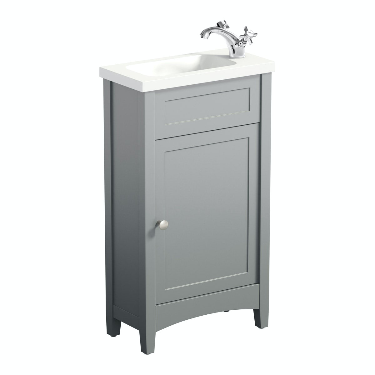 Camberley grey cloakroom furniture suite - Slim cloakroom basin ...