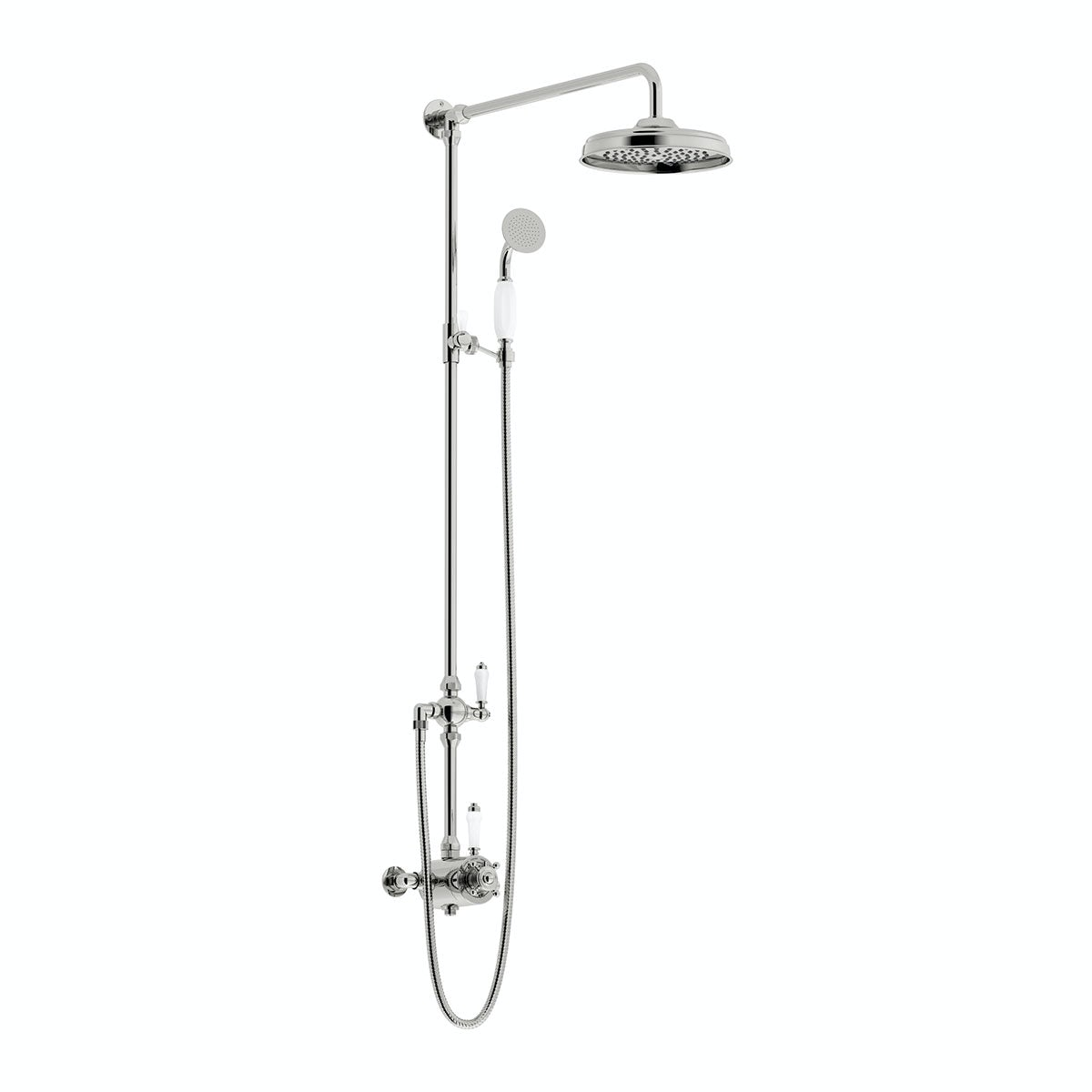 dulwich rain can shower head riser shower system