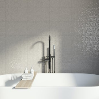 Studio Conran hartland putty pressed mosaic beige gloss tile 248mm x 398mm