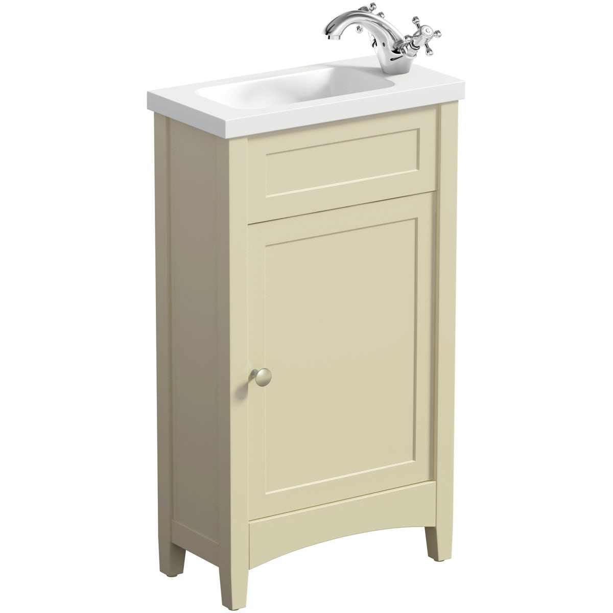 The Bath Co. Camberley satin ivory cloakroom vanity with basin 450mm