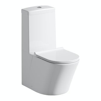 Mode Arte close coupled toilet inc slimline soft close toilet seat with pan connector