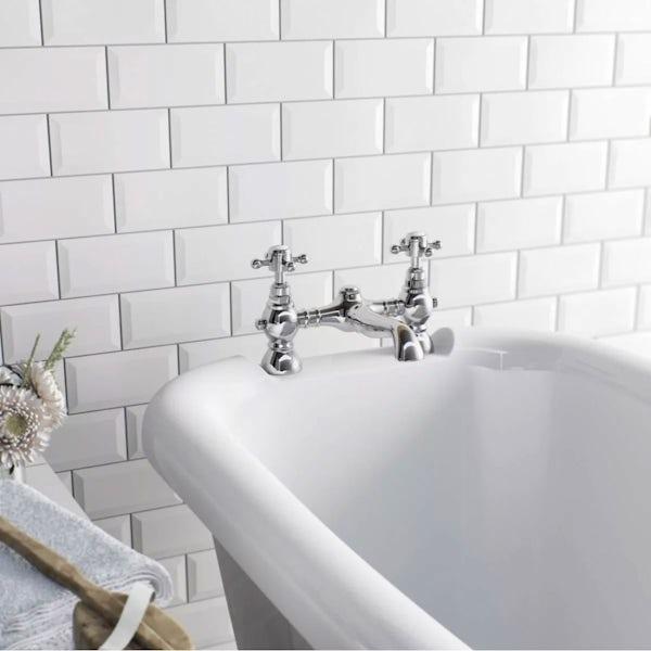 British Ceramic Tile Metro bevel white gloss tile 100mm x 200mm ...