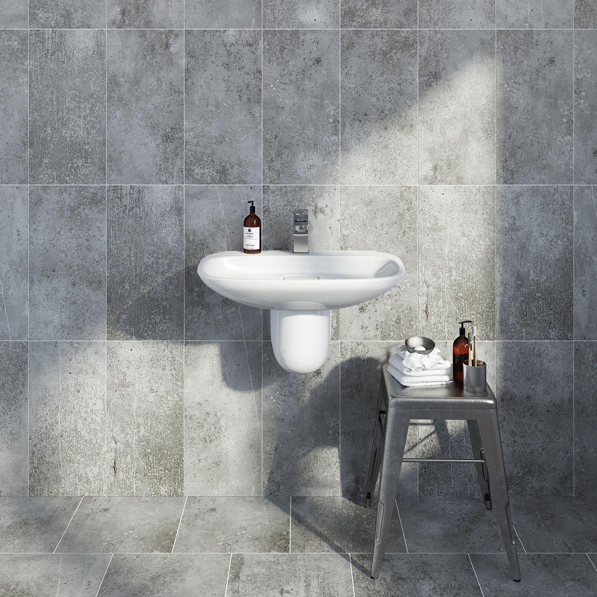 British Ceramic Tile Metropolis dark grey matt tile 248mm x 498mm - Sold by Victoria Plum