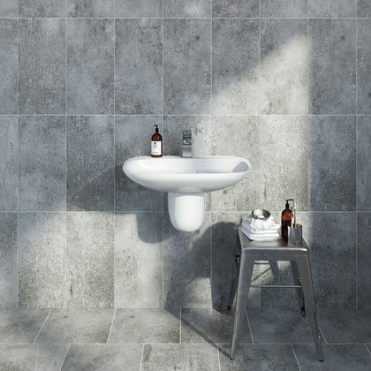 British Ceramic Tile Metropolis dark grey matt tile 248mm x 498mm