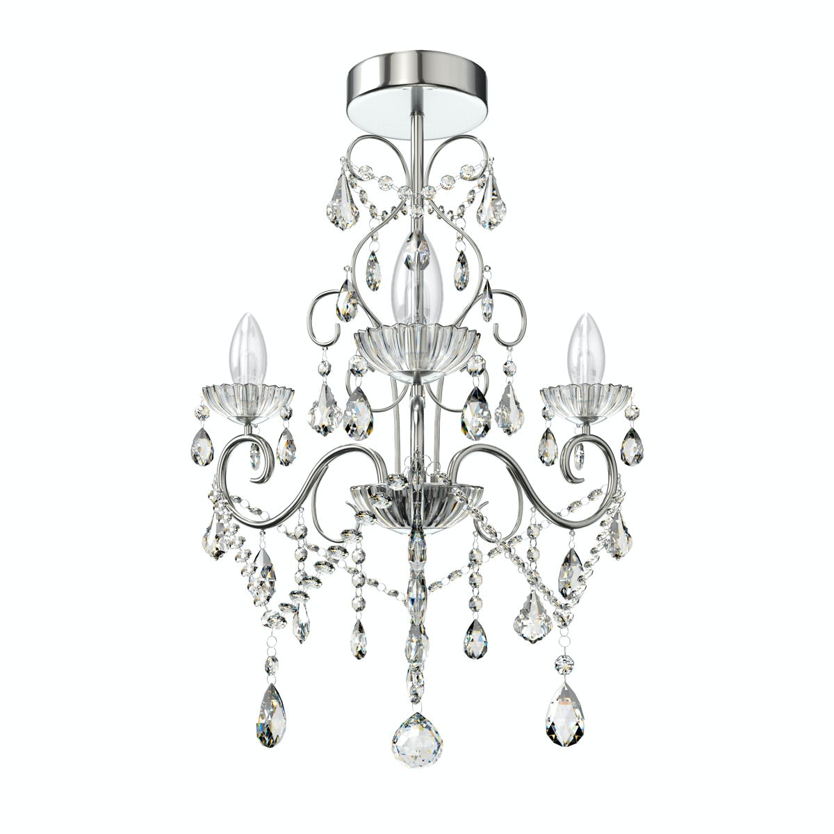 Solen 3 light bathroom chandelier