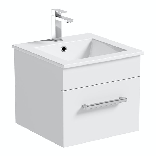 Derwent wall hung cloakroom vanity unit