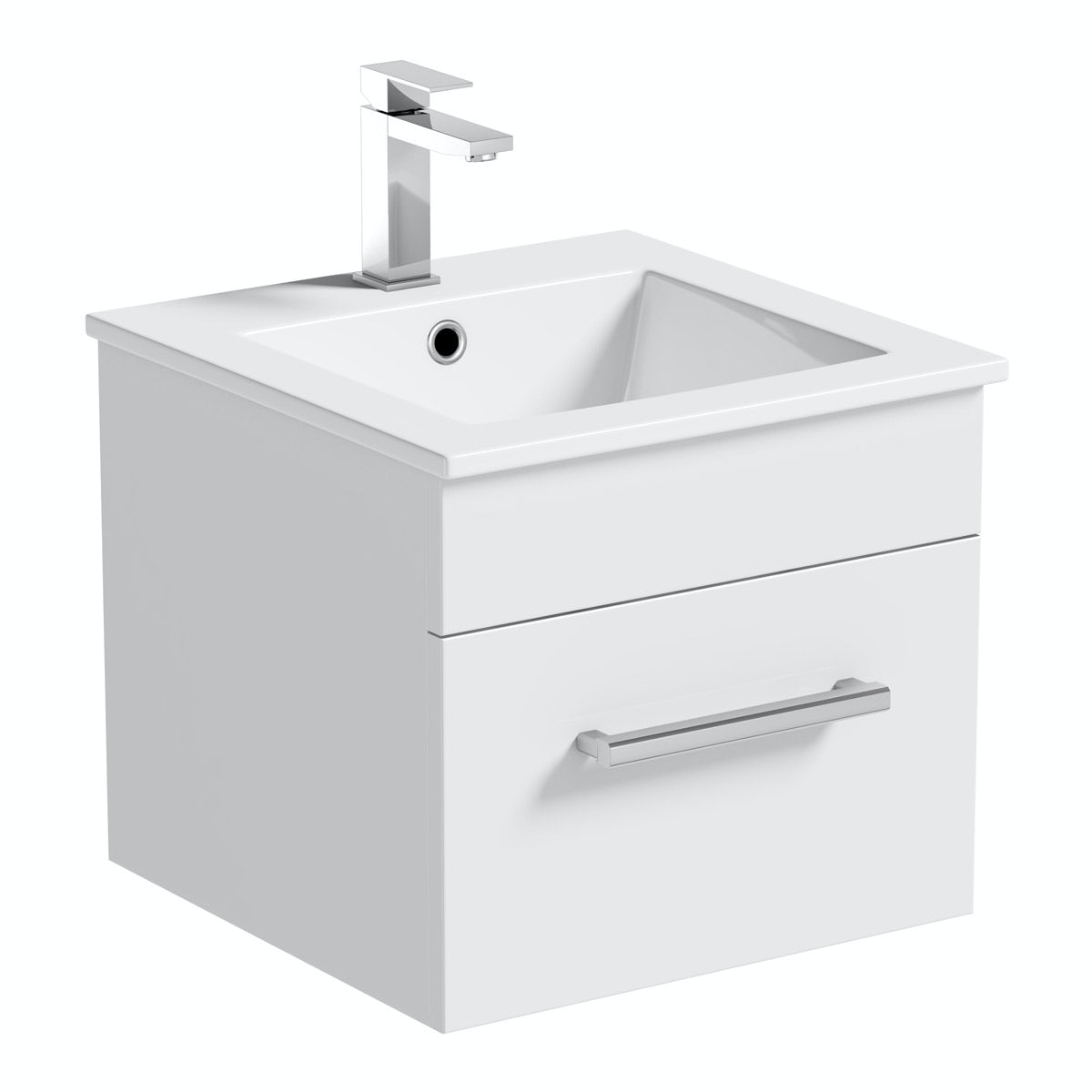 Orchard Derwent white wall hung cloakroom vanity unit
