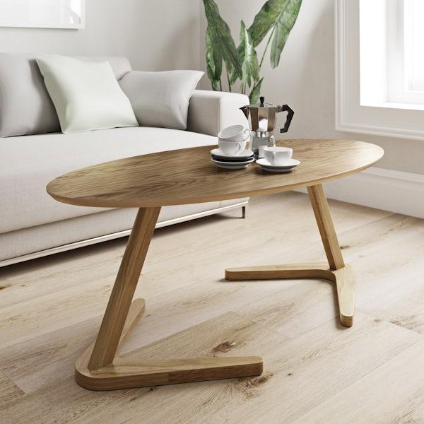 Logan oak coffee table