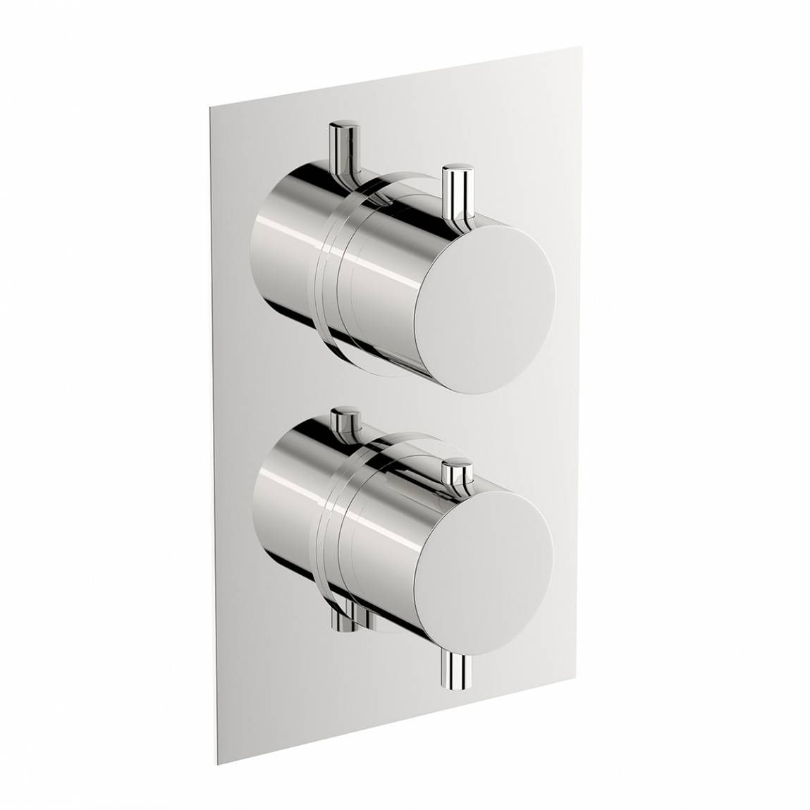 Mode Matrix square twin thermostatic shower valve