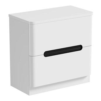 Mode Ellis select essen vanity drawer unit and countertop 800mm