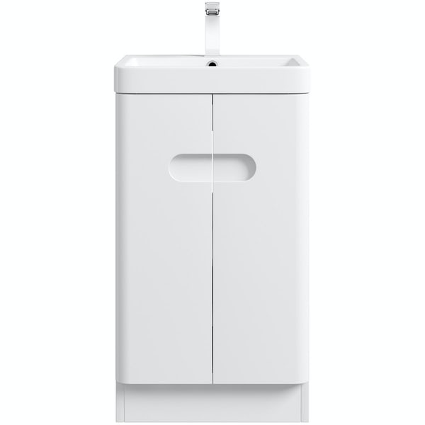 Mode Ellis white compact vanity unit and basin 450mm