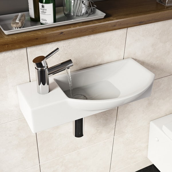 Lugano wall hung basin 505mm offer pack