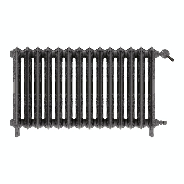 Oxford raw metal freestanding cast iron radiator 710 x 1180
