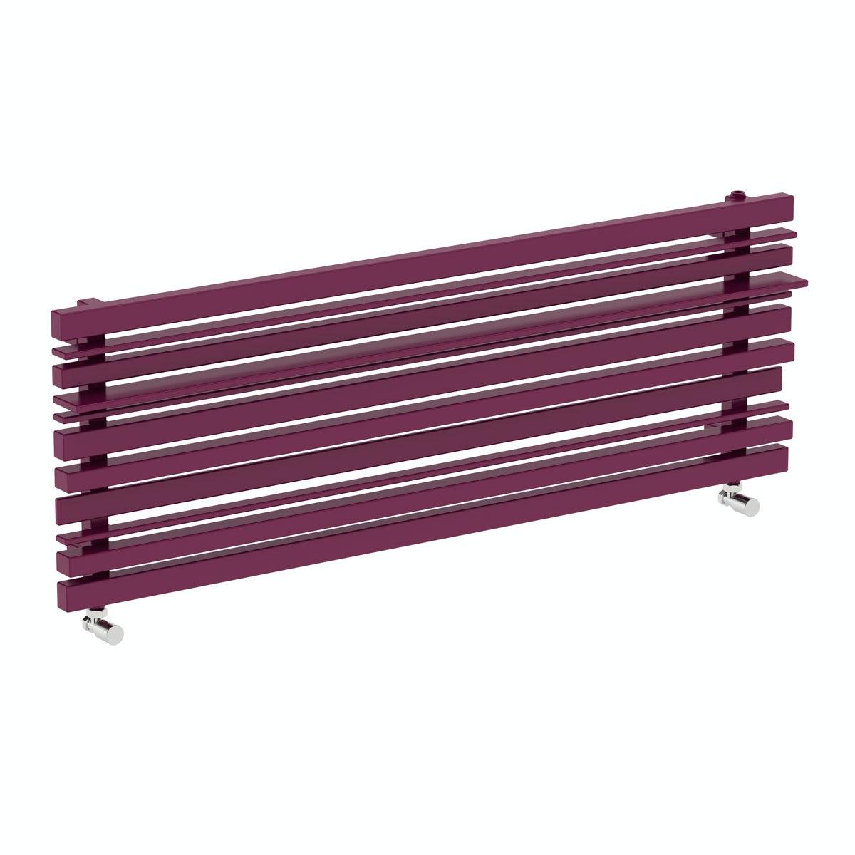 Sherwood purple violet horizontal radiator 440 x 1600