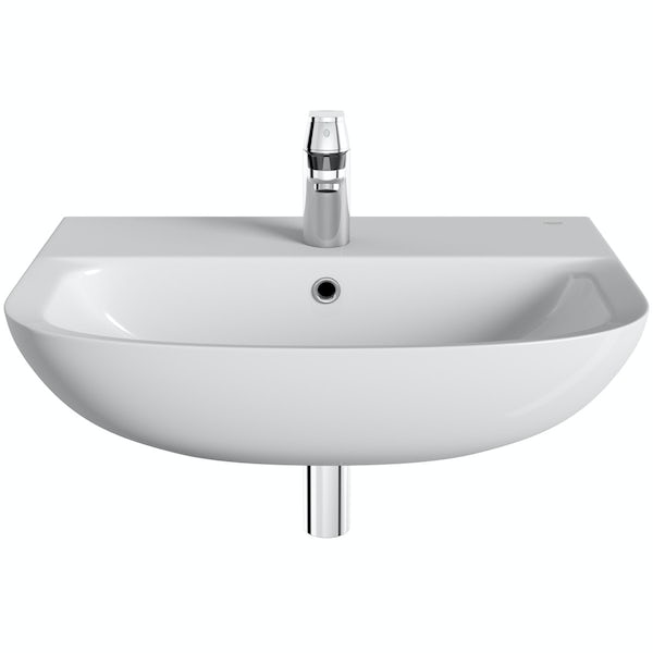 Grohe Bau 1 tap hole wall hung basin 600mm