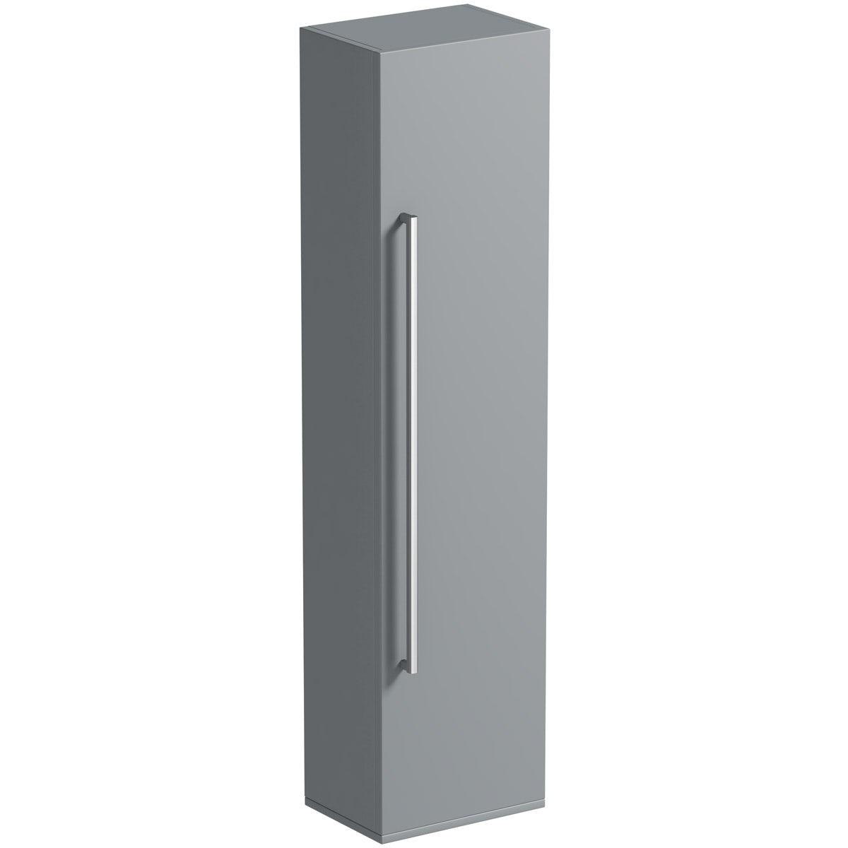 Orchard Derwent stone grey tall storage cabinet