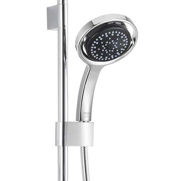 Mira Platinum ceiling fed digital shower standard