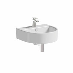 Brooklyn 1 tap hole wall hung basin 510mm