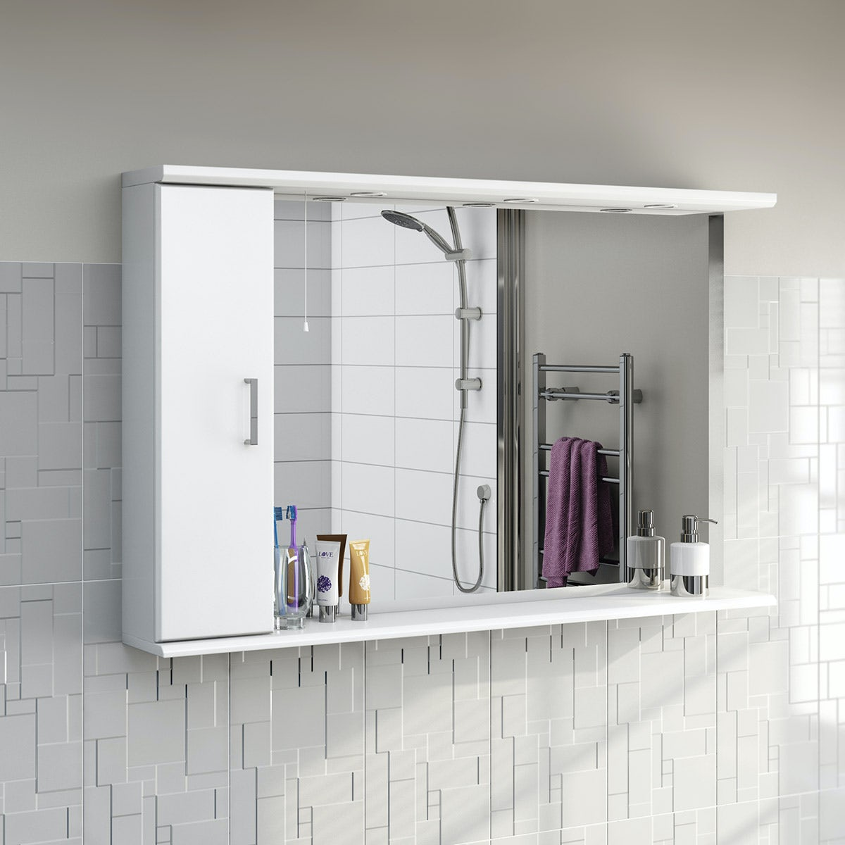 white bathroom mirror with shelf. priced to clear sienna white 120 mirror with lights bathroom shelf a