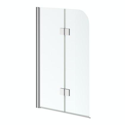 6mm hinged straight shower bath screen