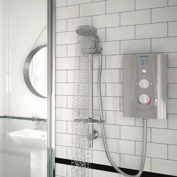 Bristan Joy 8.5kw thermostatic electric shower metallic silver
