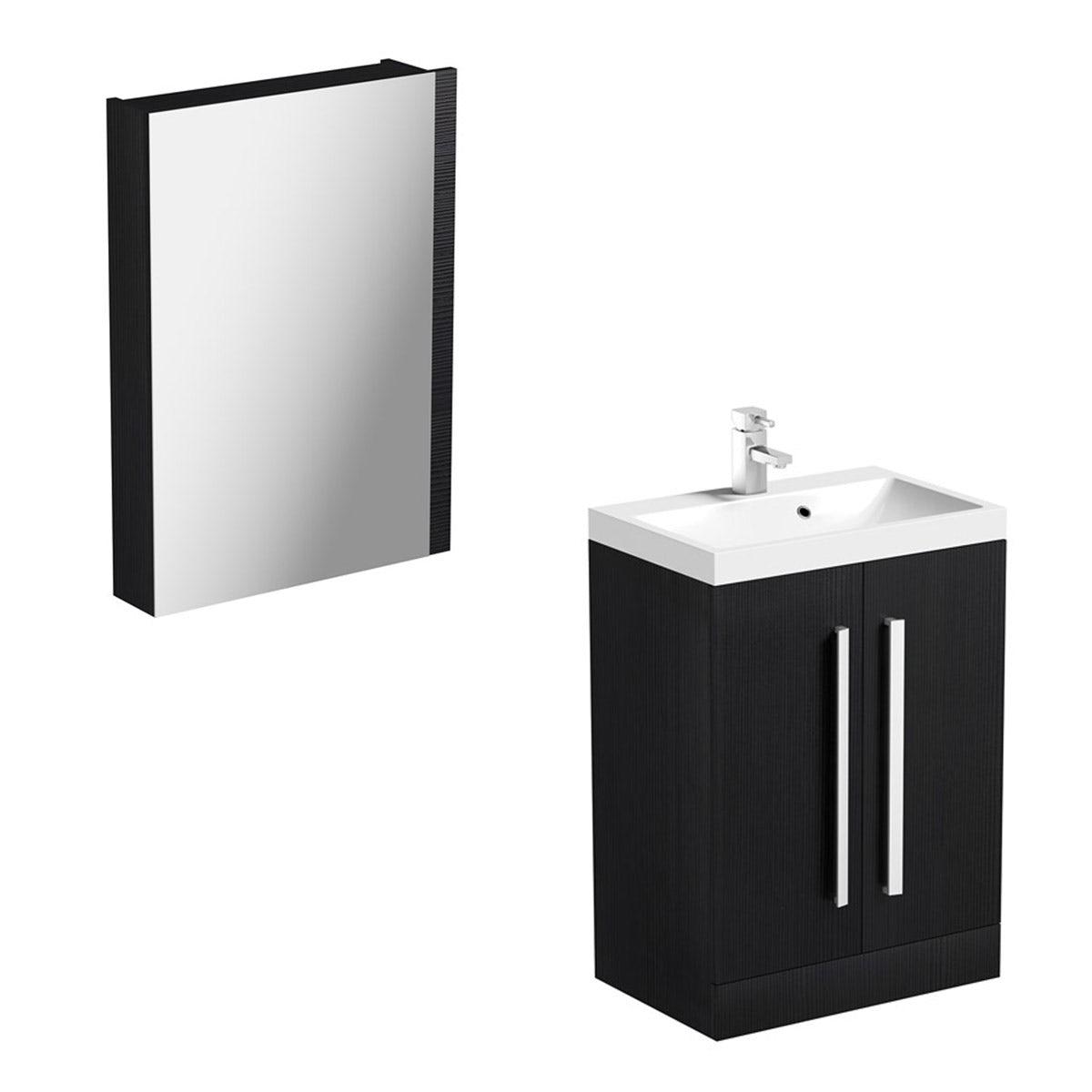 Arden Essen Vanity Unit With Basin & Mirror - 600mm - Floor Standing