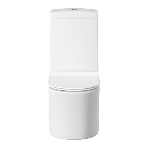 Mode Tate close coupled toilet inc slimline soft close toilet seat