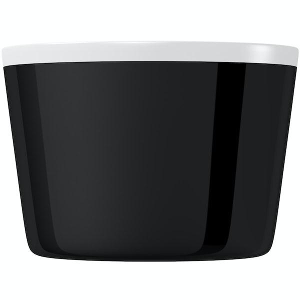 Mode Crescent black freestanding bath
