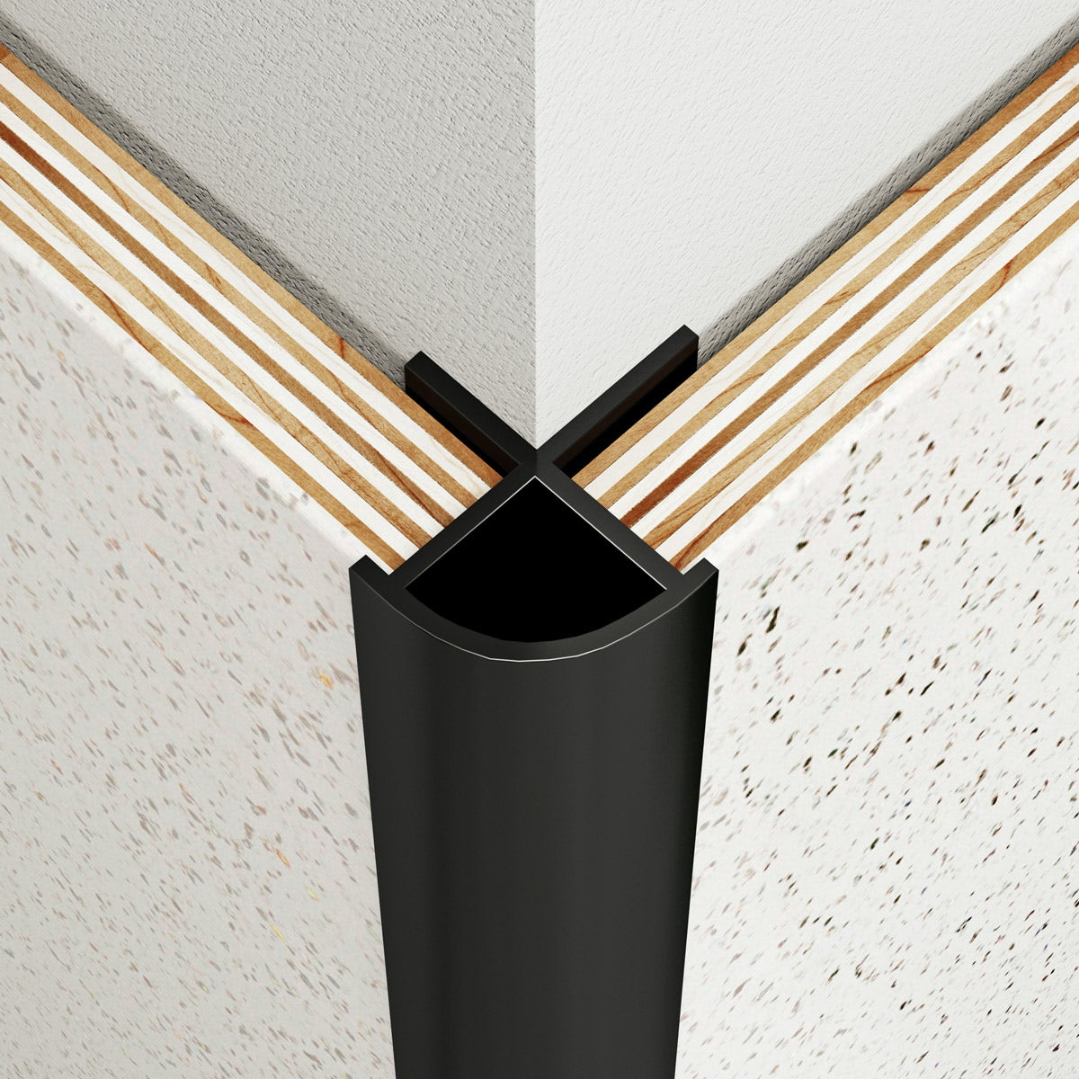 Multipanel Classic type B black external corner profile
