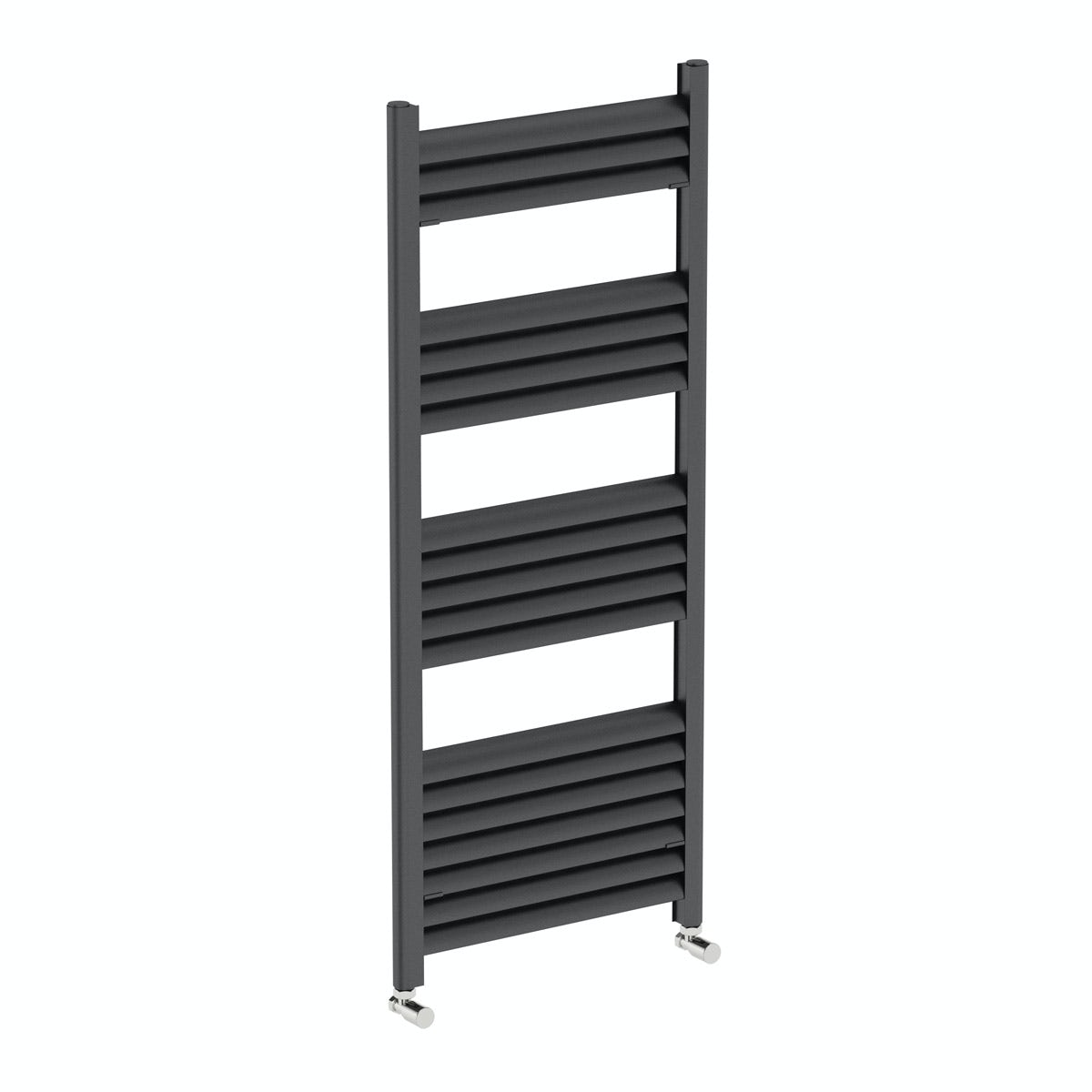 Mode Carter charcoal black heated towel rail 1200 x 500