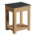 The Bath Co. Hoxton oak washstand with black marble top 600mm