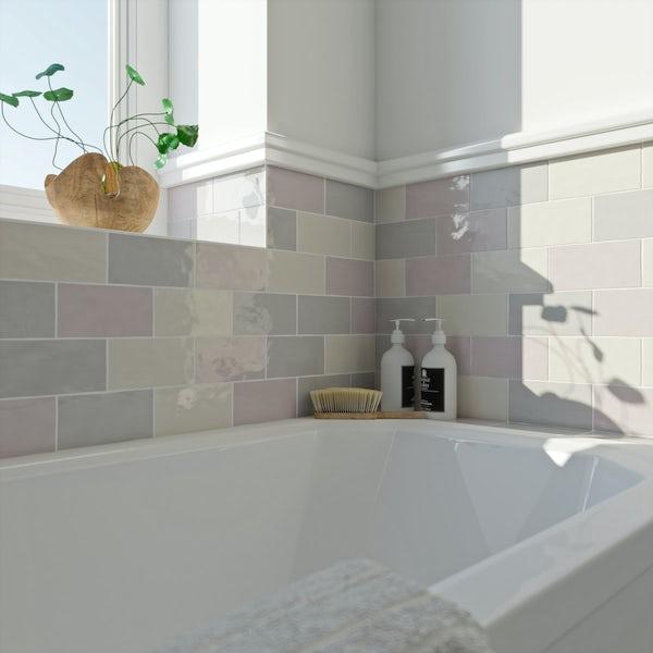 Laura Ashley Artisan amethyst wall tile 75mm x 150mm