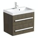 Orchard Wye walnut wall hung vanity unit with basin 600mm