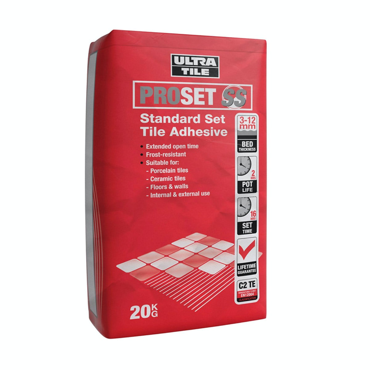 Ultra Tile Pro Set wall and floor tile adhesive grey 20kg
