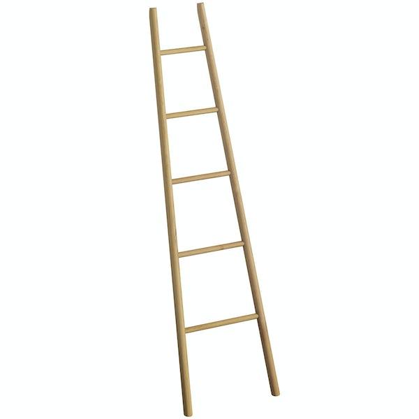South Bank natural towel ladder