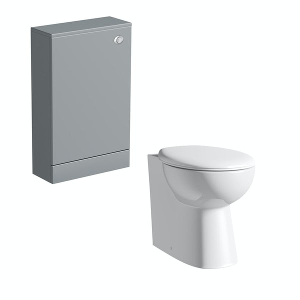 Orchard Derwent grey back to wall unit with Clarity back to wall toilet