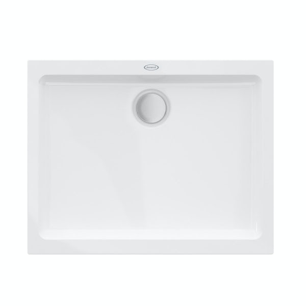 Jacuzzi the Essentials matt white acrylic shower tray 1000 x 800