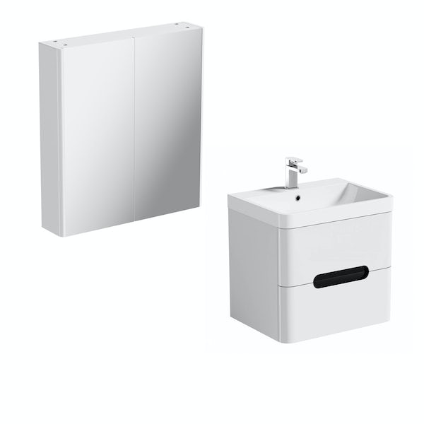 Mode Ellis essen wall hung vanity unit 600mm and mirror cabinet offer