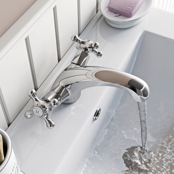 The Bath Co. Camberley basin mixer tap offer pack