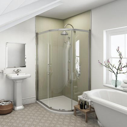 Multipanel Heritage Esher Linewood unlipped shower wall panel 2400 x 1200