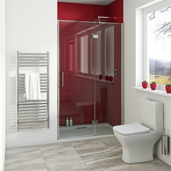 Zenolite plus fire acrylic shower wall panel 2440 x 1000