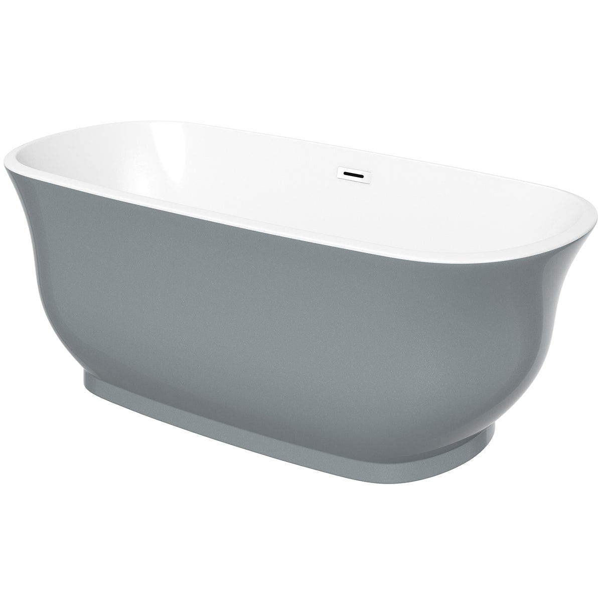 The Bath Co. Camberley storm coloured traditional freestanding bath offer pack