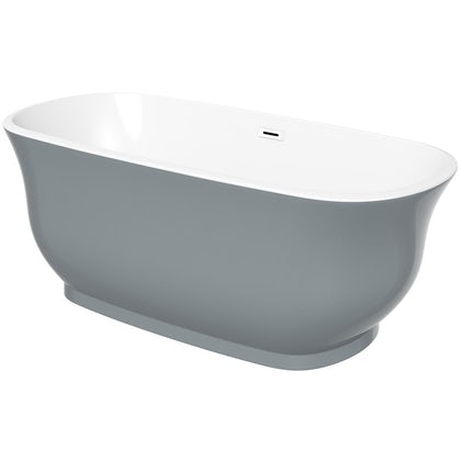 The Bath Co. Camberley storm coloured traditional freestanding bath 1500 x 720 offer pack