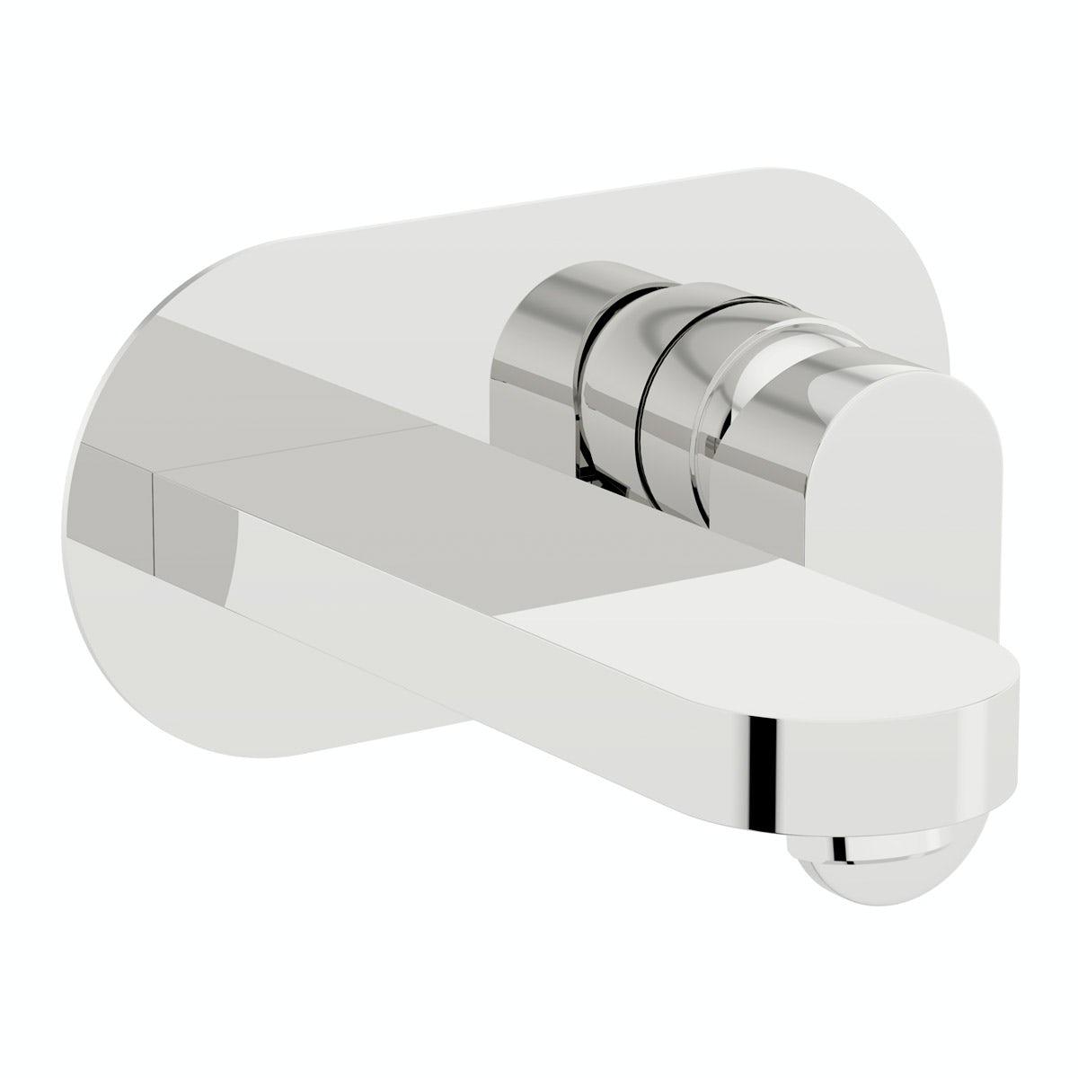 Erith wall mounted basin mixer tap