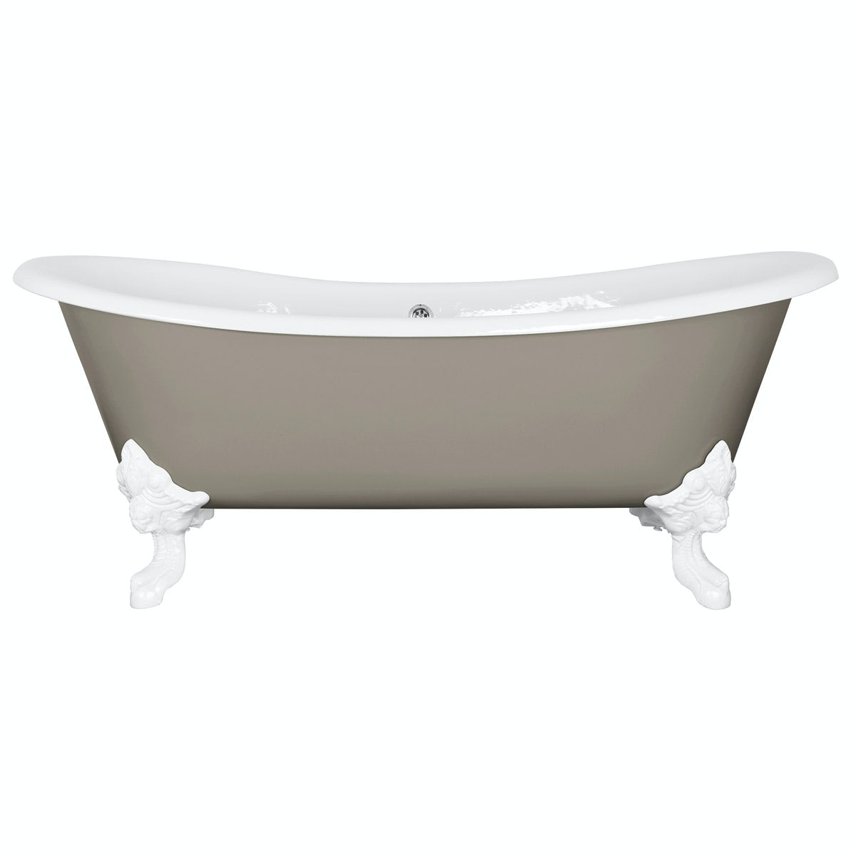 The Bath Co. Dover pavilion grey cast iron bath