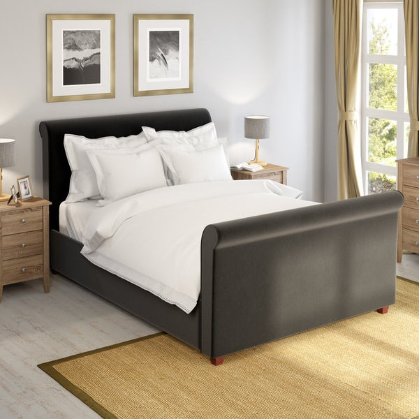 Dreamboat Charcoal Super King Size Bed