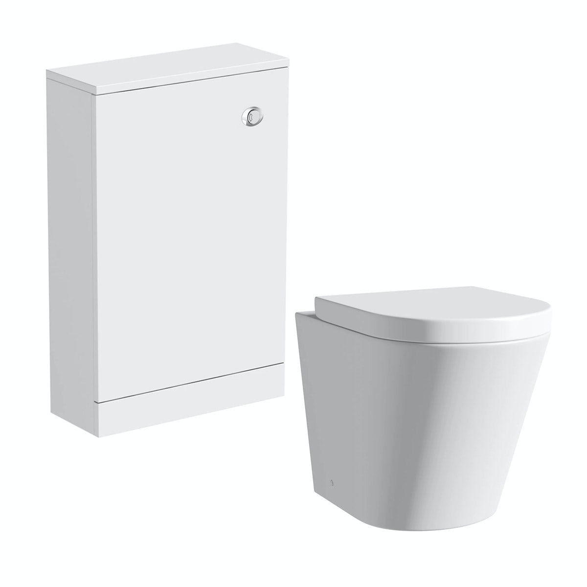 Mode Smart white back to wall toilet unit and Arte toilet with seat