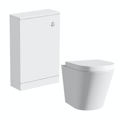 Clarity white back to wall toilet unit with contemporary toilet and seat
