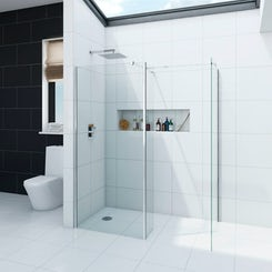 Spacious 8mm wet room shower enclosure pack 1600 x 800